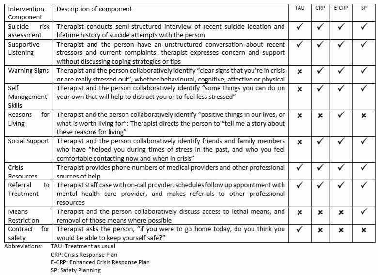Components of Treatment Conditions