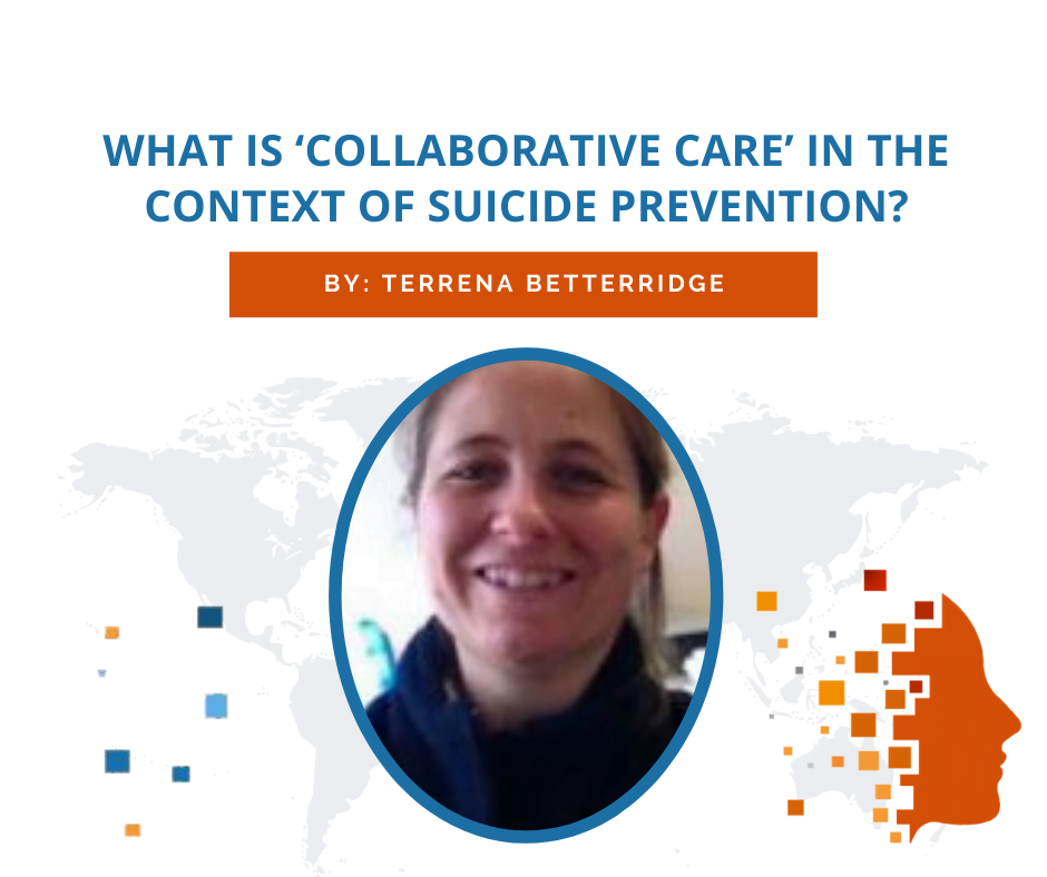 What is 'collaborative care' in the context of suicide prevention?